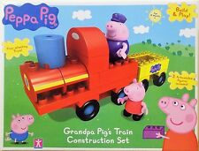 Licensed Peppa Pig Grandpa Pig's Train Construction Playset Build & Play Blocks
