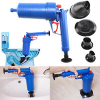 New Bath Toilet Blockage Remover Air Pump Drain Blaster Sink Plunger Unblocker