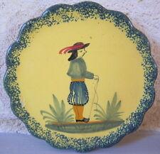 loza Quimper cuenco vacía bolsillos amarillo ornamentación bretón