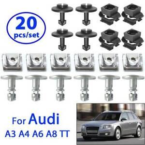 Engine Undertray Underbody Shield Clips Fastener Kit For Audi A4 B6 A6 A8 TT Mk1