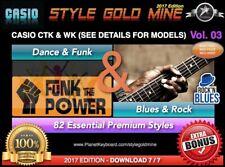 82 STYLES Pour Casio CTK & WK - Dance Funk & Blues Rock NOUVELLE EDITION