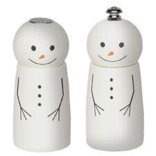 """Fletchers' Mill 4"""" Mini Snowman Pepper Mill / Grinder & Salt Shaker Set"""