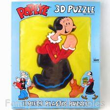Popeye & Olive Oyl~1990s Illco Toy~3-D Frame Tray Puzzle~11 Piece Jigsaw~New Nib