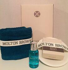 MOLTON BROWN SEAMOSS, MILK SOAP & SOAP DISH & FACE CLOTH GIFTSET  (BB7.2M7)