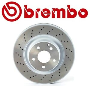 For Mercedes-Benz C215 W220 Front Left or Right Drilled Disc Brake Rotor Brembo