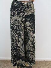 CABI Black/Tan Print Wide Leg Culottes/Gauchos Pants-Size S