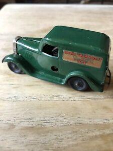 Vintage Tri Ang Minic Tinplate Clockwork Van