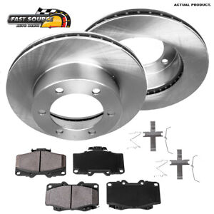 Front Brake Rotors And Ceramic Pads For Toyota 4Runner Tacoma
