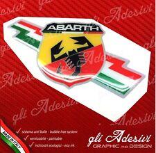 1 Adesivo Resinato Sticker 3D ABARTH Italia
