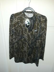 MOSSY OAK MEN'S CAMO LONG SLEEVE T-SHIRT, SIZE S M