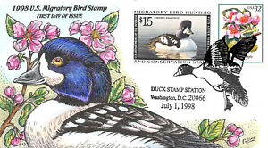 RW65 1998 Duck Stamp Collins sold out hand painted cachet #Z2801 [260944]