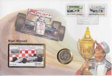 Numisbrief Insel Man  Nigel Mansell  mit 2 Pfund Münze + Telefonkarte   1994