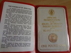 1984 Bailiwick of  Jersey £1 One pound coin Parish of ST. BRELADE