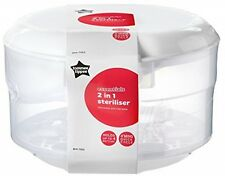Tommee Tippee Essentials Microwave Steriliser 2 In 1 Microwave and Cold Water