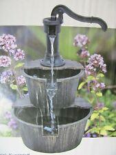 Holz Design Springbrunnen  für Garten Balkon Terrasse Brunnen NEU/OVP