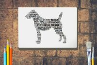 Patterdale Terrier Word Art Canvas A4A3A2A1 Mothers Day Gift Personalised Option
