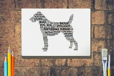 More details for patterdale terrier word art canvas a4a3a2a1 mothers day gift personalised option
