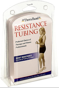 Thera-Band Resistance Tubing Heavy Resistance Blue And Black Bands - 5FT Total