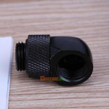 G1/4 Inner Outer Thread 90 Degree Rotary Water Cooling Tube Connector Fitting