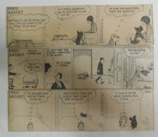 (312) Fred Bassett Dailies by Graham from 1-12,1981 Size: 2.5 x 7 inches