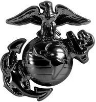 Subdued Black USMC Globe & Anchor Insignia Pin