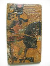 antique vintage Japanese leather purse wallet samurai decor 1920s japan art deco