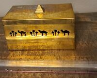 Camel Cigarette Vintage Classic Solid Brass Box From India W/ Lid Unused 1992