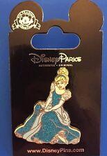 Sitting Cinderella Pin Sparkling Blue Dress Disney Park Pack August 2016 117375