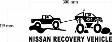 NISSAN RECOVERY VEHICLE VINYL DECAL 300MM BY119 MM apr. OFF WHITE VINYL