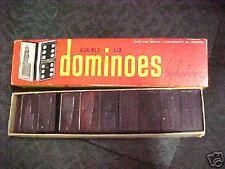 B35 Vintage Halsam Dominoes Double six original box