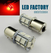 4X Car LED BACKUP REVERSE LIGHT BULB 13 SMD BACK UP BA15S 1156 P21W 1141 Red #D2