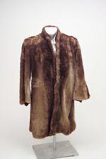 Fur Coat Vintage Ladies - Plush- Kaplan 1940-1950's Original owners Brown As Is