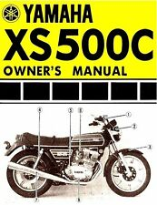 1976 YAMAHA XS500 MOTORCYCLE OWNERS MANUAL -XS 500 C-YAMAHA XS500C