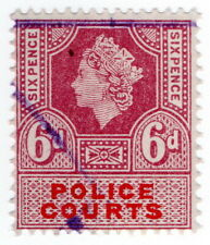 (I.B) Elizabeth II Revenue : Police Courts 6d