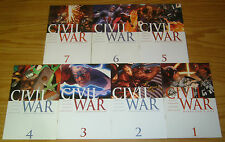 Civil War #1-7 VF/NM complete series - avengers - captain america - spider-man