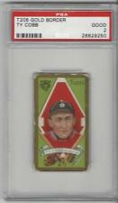 1911 T205 Gold Border Baseball Ty Cobb Card PSA Graded 2 Hassan Tobacco