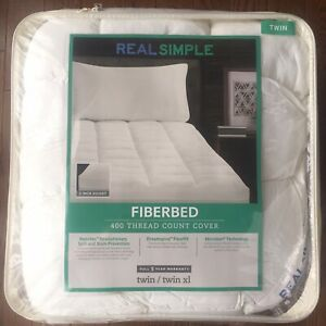 Pillow Top Mattress Cover Twin / Twin XL Bed Topper Pad Soft Cool Hypoallergenic