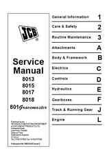 JCB 8013 8015 8017 8018 801 Gravemaster Service Manual (B74)