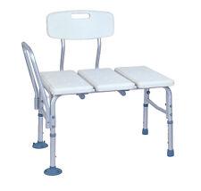 Transfer Bench Adjustable Shower Chair Seat Stool Bathroom