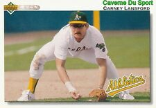 682 CARNEY LANSFORD OAKLAND ATHLETICS  BASEBALL CARD UPPER DECK 1992