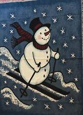 Snowman Afghan Tapestry Blanket Throw