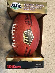 BRAND NEW - Wilson Game Ball - Super Bowl XLIII - Steelers vs. Cardinals