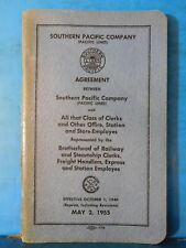 Southern Pacific Co Agreement 1955 Clerks Other office Station Store Employees