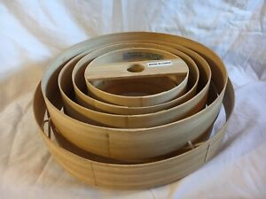 Bamboo Drum Ceiling Light Shade 9 Tier. Cool Modern Design. Natural Material.