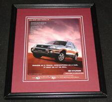 2001 Hyundai Santa Fe Framed 11x14 ORIGINAL Vintage Advertisement