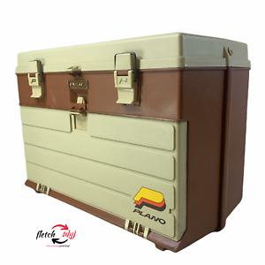Vintage Plano 757 Tackle Box 4 Drawer Hard Plastic VERY NICE! Scrapbooking Model