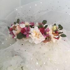 New Handmade Flower Crown Floral Wreath Wedding Bride Photo prop
