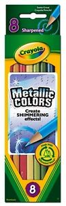 Crayola Metallic Pencils - 8 pack