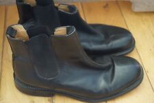 Mens CLARKS Black Leather Chelsea Boots * 10 uk  * Wide E Very good CONDITION!