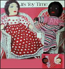 "TOPSY TURVY DOLL Knitting Pattern To Make a BLACK/WHITE Upside Down DOLLY 21"" DK"